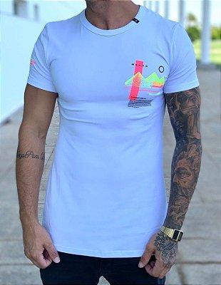 Camiseta Longline White Nilo - Nakyk