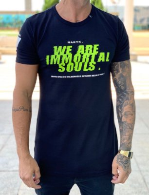 Camiseta Longline Black Soul - Nakyk
