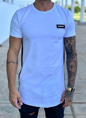 Camiseta Longline White Roller - Nakyk