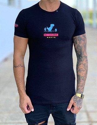 Camiseta Longline Black Signal - Nakyk