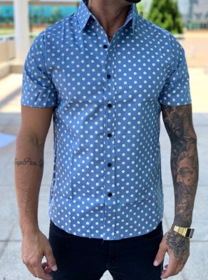 Camisa Manga Curta Póa Blue - Exalt Urban