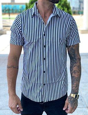 Camisa Manga Curta Listrada New Black/White - Exalt Urban