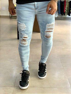 Calça Jeans Delavê Skinny Destroyed Love - Creed Jeans