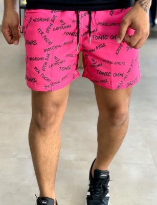 Shorts Beach Pink Drinks - Perpochi