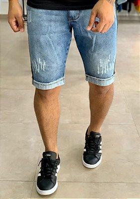 Bermuda Jeans Faixa Lateral - Kawipii