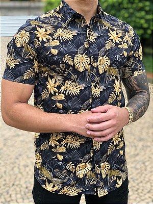 Camisa Manga Curta Leafs Gold - FB Clothing