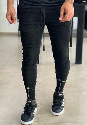 Calça Bengaline Faixa Neon Verde - Lacapa