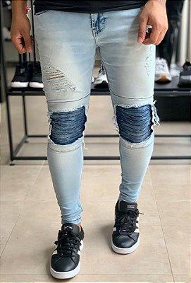 Calça Jeans Skinny Clara Biker - Kawipii