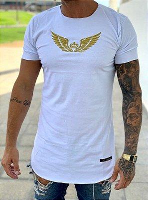 Camisetas Longline Branca Asas - Kreta