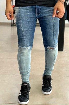 Calça Jeans Skinny Half to Half - Hundred Limit