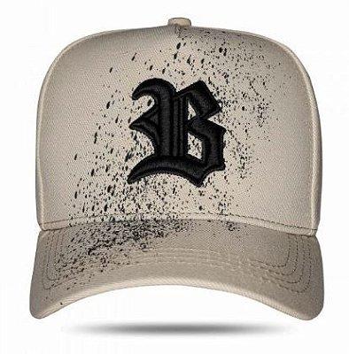 Boné Snapback Paint Black Bege - BLCK