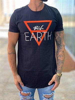 Camiseta Longline Black Earth Basic - Buh