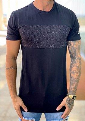 Camiseta Longline Black Pop - Buh