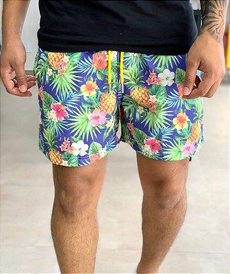 Shorts Beach Tropical Blue - Perpochi