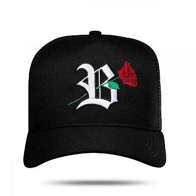 Boné Trucker Black Roses - BLCK