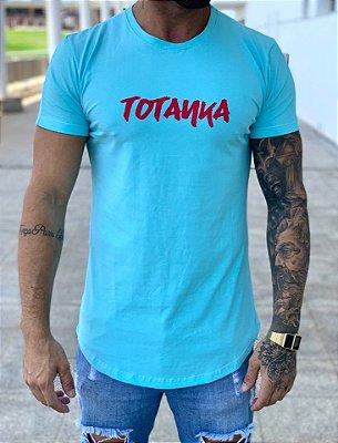 Camiseta Longline Azul Good Vibes - Totanka
