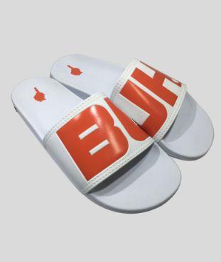 Chinelo Slide White e Orange - Buh