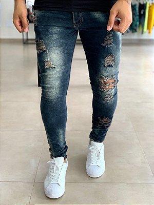 Calça Jeans Skinny Destroyed Ecozol Parma - City Denim