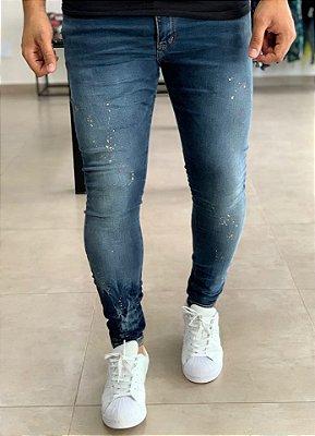 Calça Jeans Skinny Básica C/ Respingos - City Denim