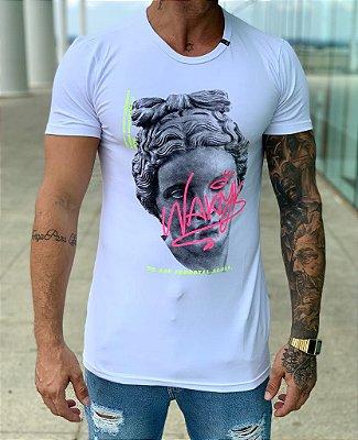 Camiseta Longline White Aphrodite - Nakyk