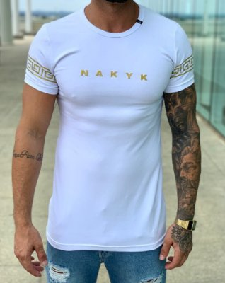 Camiseta Longline White Pattern - Nakyk