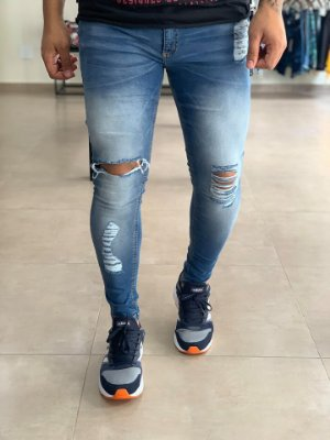 Calça Jeans Skinny Destroyed Palermo - Creed Jeans
