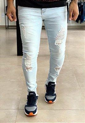 Calça Jeans Claro Skinny Destroyed Presence - Degrant
