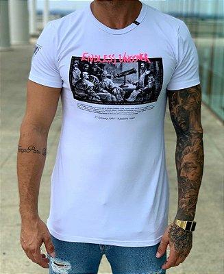 Camiseta Longline Branca Galileu - Nakyk