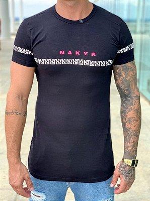 Camiseta Longline Preta Mikonos - Nakyk