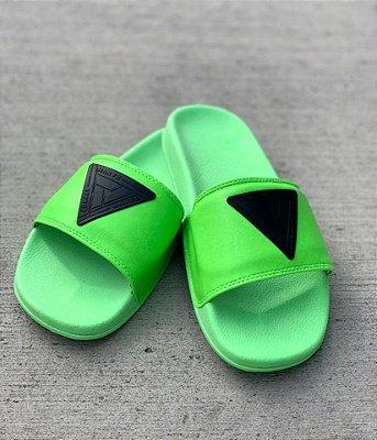 Chinelo Slide Neon Verde - Nakyk