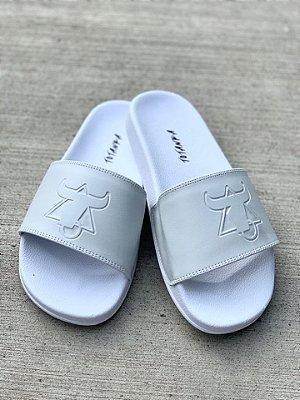 Chinelo Slide Branco Básico Logo - Totanka