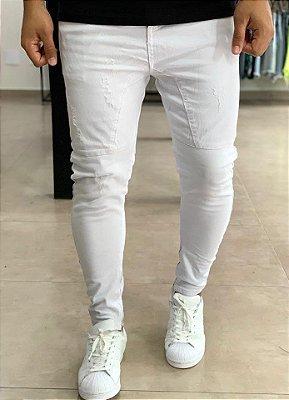 Calça Branca Skinny Básica - Nakyk