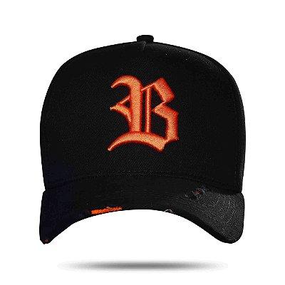 Boné Snapback Tiger Black Orange - BLCK