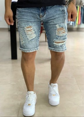 Bermuda Jeans Marmorizada Esp -  Degrant