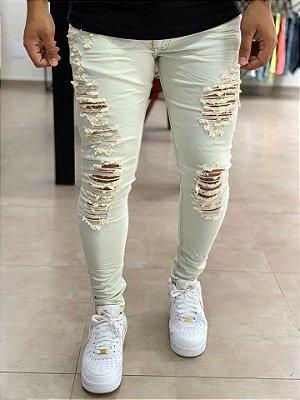 Calça Jeans Skinny Destroyed Abu Dhabi - City Denim