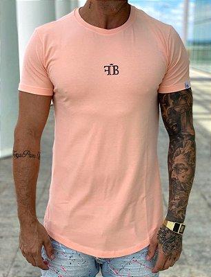 Camiseta Longline Salmon Believe - FB Clothing