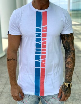 Camiseta Longline White Faixas - La Mafia