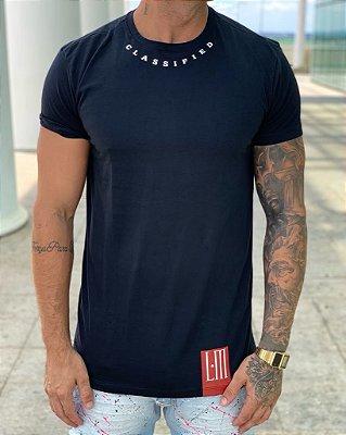 Camiseta Longline Black Never Satisfield - La Mafia