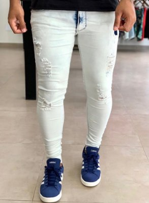 Calça Jeans Skinny Destroyed Napier - Kawipii