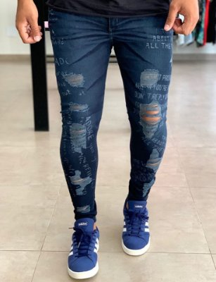 Calça Jeans Skinny Destroyed Picton - J Jones