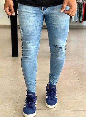 Calça Jeans Skinny Destroyed Wanaka - Kawipii