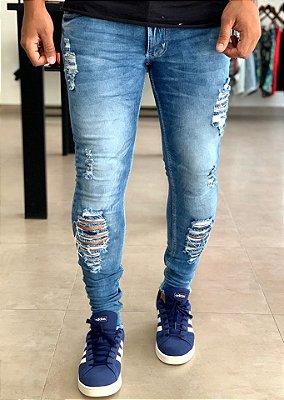 Calça Jeans Skinny Destroyed Timaru - Kawipii