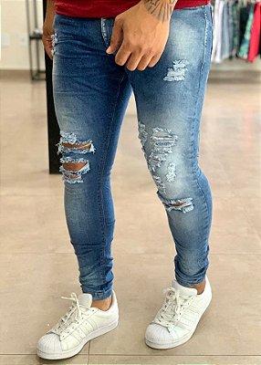 Calça Jeans Skinny Destroyed Tijuana - City Denim