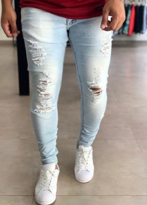Calça Jeans Skinny Destroyed Mérida - City Denim