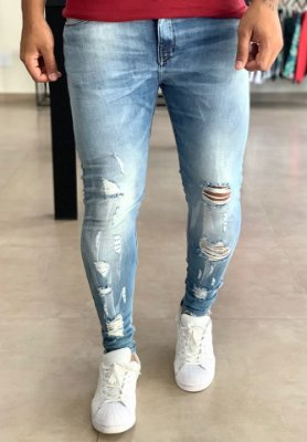 Calça Jeans Skinny Destroyed Toluca - J Jones