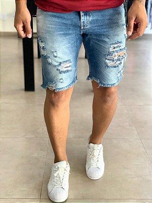 Bermuda Jeans Skinny Destryed Cholula - J Jones