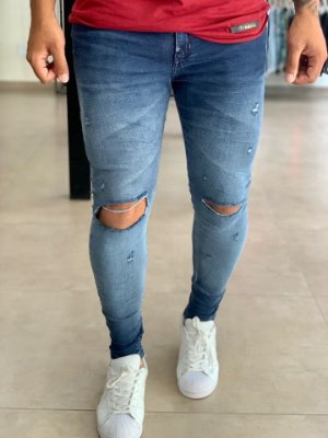Calça Jeans Skinny Destroyed León - J Jones