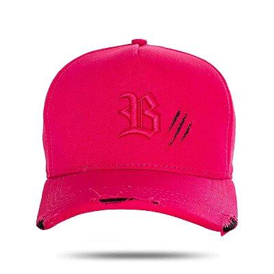 Boné Snapback Tiger Destroyed Pink - BLCK