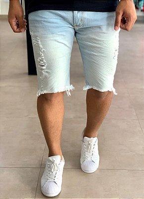 Bermuda Jeans Clara Skinny Destroeyd Rosário - City Denim