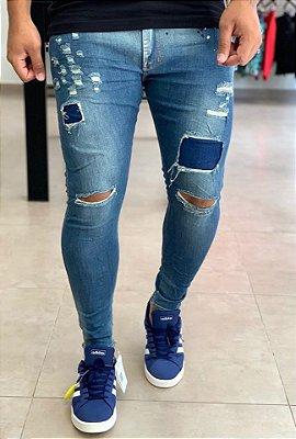 Calça Jeans Skinny Destroyed Xiam - City Denim
